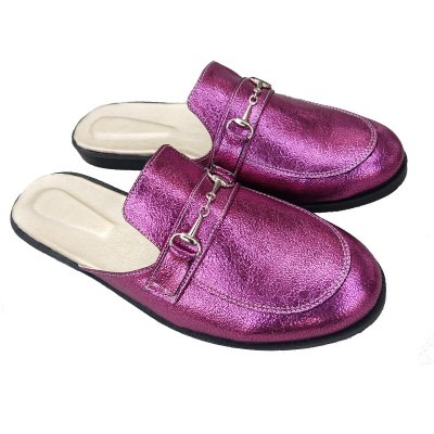 mules fuxia mujer talles especiales