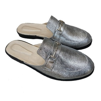 mules plata mujer talles especiales